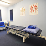 Physio therapy treatment room